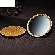 der Spiegel Ebenholz Holz Spiegel mit Spiegel Spiegel portable einzigen kleinen runden Spiegel