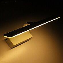 Der Spiegel lampe LisaFeng Badewanne Zimmer und Badezimmer, Wandleuchten LED-Leuchten Wandmalereien spiegel Behälter wasserdicht Beschlagfrei, 72 CM - Weiß