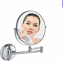 der Spiegel/[Spiegel]/ Desktop-Spiegel/ Bad Magnifying Glass/Teleskop klappbare Spiegel/ Bad Kosmetikspiegel-E