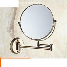 der Spiegel/Wand-Badezimmer Kosmetikspiegel/Faltbare Toilette Teleskop Spiegel/Zweiseitige Spiegel-E