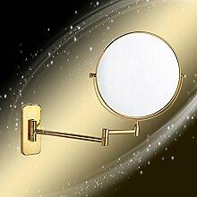 der Spiegel/ wandhängende Bad Kosmetikspiegel/ Double-sided vergrößerten Spiegel/Faltbare Toilette Teleskop Spiegel-H