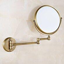der Spiegel/Wandspiegel/Two-sided Magnifying Glass/Kosmetikspiegel/Badezimmerspiegel/Falten Teleskop Spiegel-D