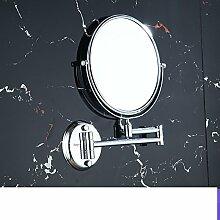 der Spiegel/Zoom-Objektiv/Bad Kosmetikspiegel/[Wandklappspiegel]/Kupfer zweiseitige Spiegel/rasieren Spiegel-B