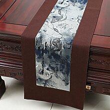 Der Stil Der Garten Tischläufer/Stil Klassische Tischdecke-J 33x230cm(13x91inch)
