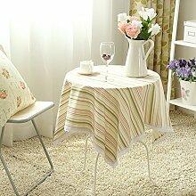 Der Stil Der Pastoralen Kontinentalen Baumwolle Stoff Tischdecke/Modernen Esstisch Stühle Tischdecke-I 140x240cm(55x94inch)