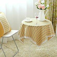 Der Stil Der Pastoralen Kontinentalen Baumwolle Stoff Tischdecke/Modernen Esstisch Stühle Tischdecke-E 140x210cm(55x83inch)
