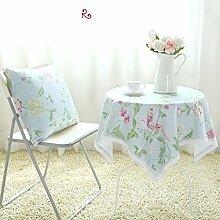 Der Stil Der Pastoralen Kontinentalen Baumwolle Stoff Tischdecke/Modernen Esstisch Stühle Tischdecke-M 140x90cm(55x35inch)