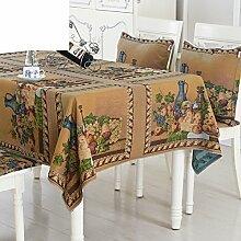 Der Stil Der Pastoralen Vintage Tischdecke Baumwolle/Baumwolle/Leinen Tischdecke/American Land Tischdecke-B 140x190cm(55x75inch)