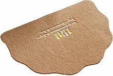 Der Tür-Teppich Einfache Wasser-Absorption Anti-Rutsch-Badezimmer Wohnzimmer Sofa Teppich Hall Schlafzimmer Teppich ( Farbe : A , größe : 50*70cm )