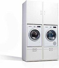 Der Waschturm • 2x Waschmaschinenschrank &