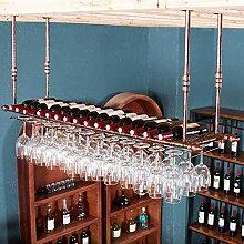 Der Weinglashalter steht auf dem