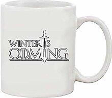 Der Winter kommt weiß Kaffee-Haferl (weiß)