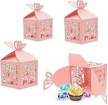 Derbway 30 Set Rosa Süßigkeiten Schachtel