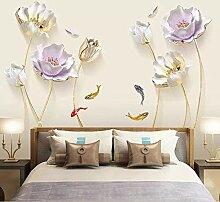 DERUN TRADING 3D-Blumen-Wand-Aufkleber, Wandbild,