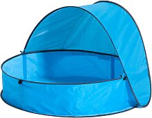 DERYAN Pop-Up Planschbecken mit Dach für Kinder