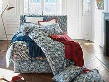 Descamps Jardins Bettbezug, Baumwolle, Grün und