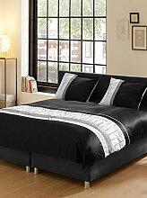 Descanso-Doppelbett 100 Prozent Satin Bettwäsche