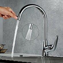 Desfau 360° drehbar Chrom Armatur Spüle Mischbatterie Küche Wasserhahn Armaturen Spültischarmatur Küchenarmatur Spülbecken Wasserkran