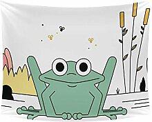 Desheze Cartoon Frosch 03 Wandteppich Schlafzimmer