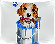 Desheze Malen Sie Hund Wandteppich Schlafzimmer
