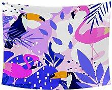 Desheze Rosa Flamingo 01 Wandteppich Schlafzimmer