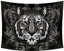 Desheze Tiger Head Wandteppich Schlafzimmer