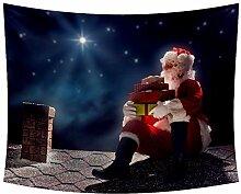 Desheze Weihnachten Santa Claus Satrs Sky