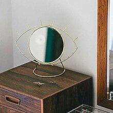 desiary Tischspiegel Cyclop goldfarben