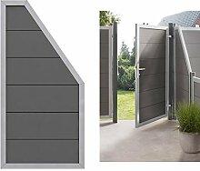 Design Abschluss WPC Sichtschutz Element anthrazit