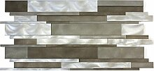 Design Alu Metall Aluminium Mosaik Fliese 300x600mm