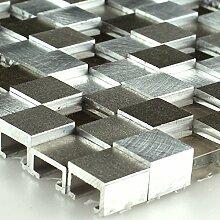 Design Aluminium Alu Glas 3D Mosaik Fliesen