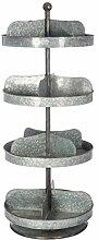 DESIGN AND VINTAGE Etagère Ronde en métal zinc
