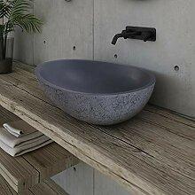 Design Aufsatzwaschbecken VELA aus Mineralguss -