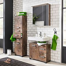 Design Badezimmer Set in Holzpaletten Optik modern