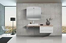Design Badezimmerset mit Waschbecken,