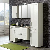 Design Badmöbel im Landhaus Style Weiß Paneel Optik (5-teilig)