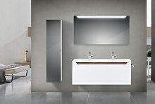 Design Badmöbel Set 120 Doppelwaschtisch