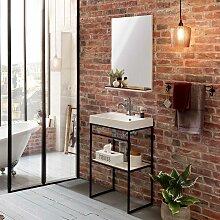 Design Badmöbel Set in Schwarz Weiß modern