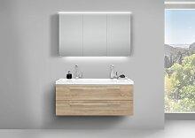 Design Badmöbel Set mit LED Spiegelschrank und