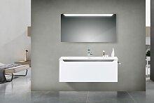 Design Badmöbel Set mit Waschtisch 120 cm Grau