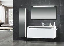 Design Badmöbel Set mit Waschtisch 120 cm, Grau