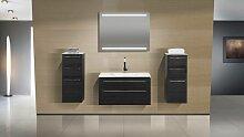 Design Badmöbel Set Waschbecken 90 Lichtspiegel