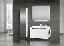 Design Badmöbel Set Waschtisch 80 cm, Grau