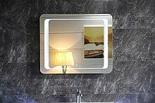 Design Badspiegel Lichtspiegel GS050 LED Beleuchtung Touch-Schalter Wandspiegel Tageslichtweiß IP44