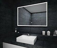 Design Badspiegel mit LED Beleuchtung Wandspiegel Badezimmerspiegel mit Touch Schalter