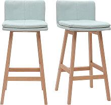 Design-Barhocker Holz und Minzgrün 65 cm 2 Stck.