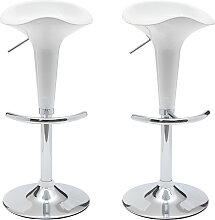 Design-Barhocker / Küchenhocker Weiß GALAXY (2