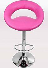 Design Barhocker pink gepolstert höhenverstellbar