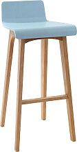 Design-Barhocker / -stuhl Holz Blau skandinavisch