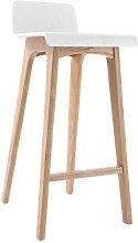 Design-Barhocker / -stuhl Holz naturfarben und